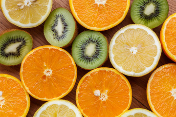 oranges,lemons and kiwi