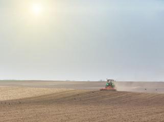 Harrowing soil