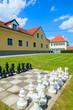 Chessboard in small town in public park, Burgenland, Austria