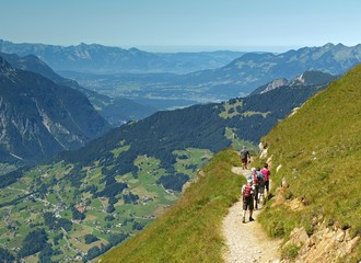 Montafon Alps in Austria, Europe