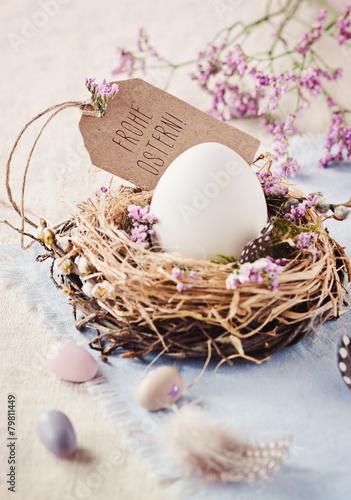 Leinwandbild Motiv Osterkarte