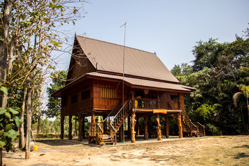 Home Thailand, wood, brown, beautiful, culturally Thailand, quie
