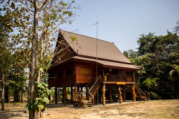Home Thailand, wood, brown, beautiful, culturally Thailand, quie