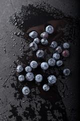 Blueberries on Black