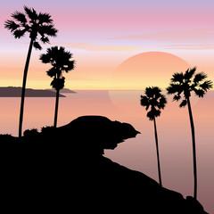 Sunset and Sunrise Cape Landscape