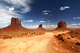Monument Valley under the blue sky - 79812647