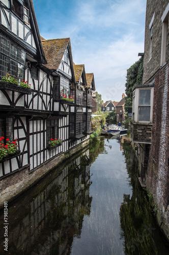 Fotobehang Kanaal Canterbury city, canal