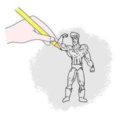 Draw man