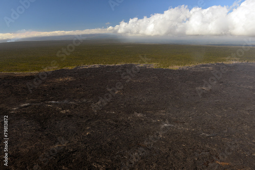 Aerial view of Kilauea volcano in Big island, Hawaii-4