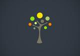 Fototapety tree people dancing vector logo
