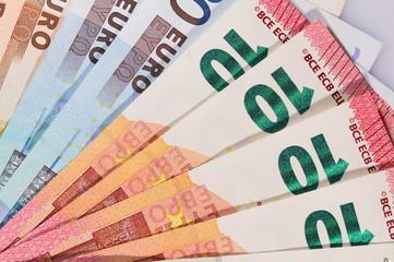 Geldfächer liegend von oben