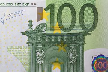 100 Euro Geldschein Makro