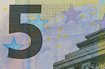 5 Euro Geldschein Makro
