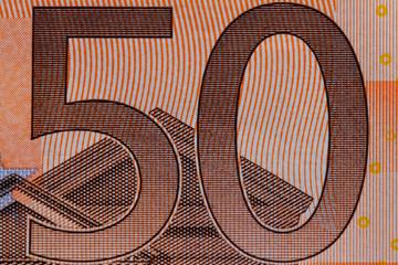 50 Euro Geldschein Makro