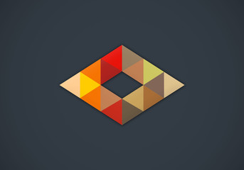 triangle geometry business vector logo