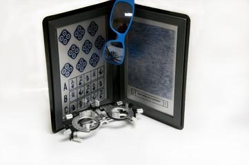 Optometric equipment, binocular and trial frame