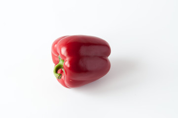 Sweet red pepper isolated