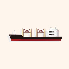 Transportation boat theme elements