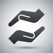 Vector protecting hands icon - 79821444
