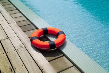 lifebelt at the pool