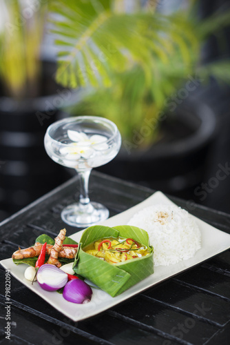 Papiers peints Autre fish amok cambodian traditional curry