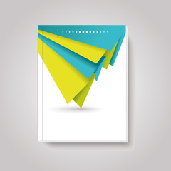 Geometric design  business brochures, magazines, banners