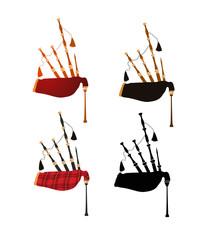 Set of Scottish Great Highland Bagpipes