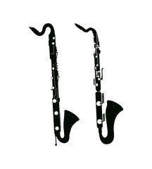 Bass Saxophone and Clarinet