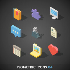 Flat Isometric Icons Set 4