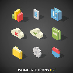 Flat Isometric Icons Set 2