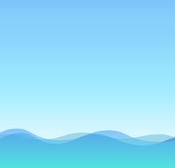 Sea and Sky, Summer Illustration