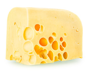 a delicious piece of cheese