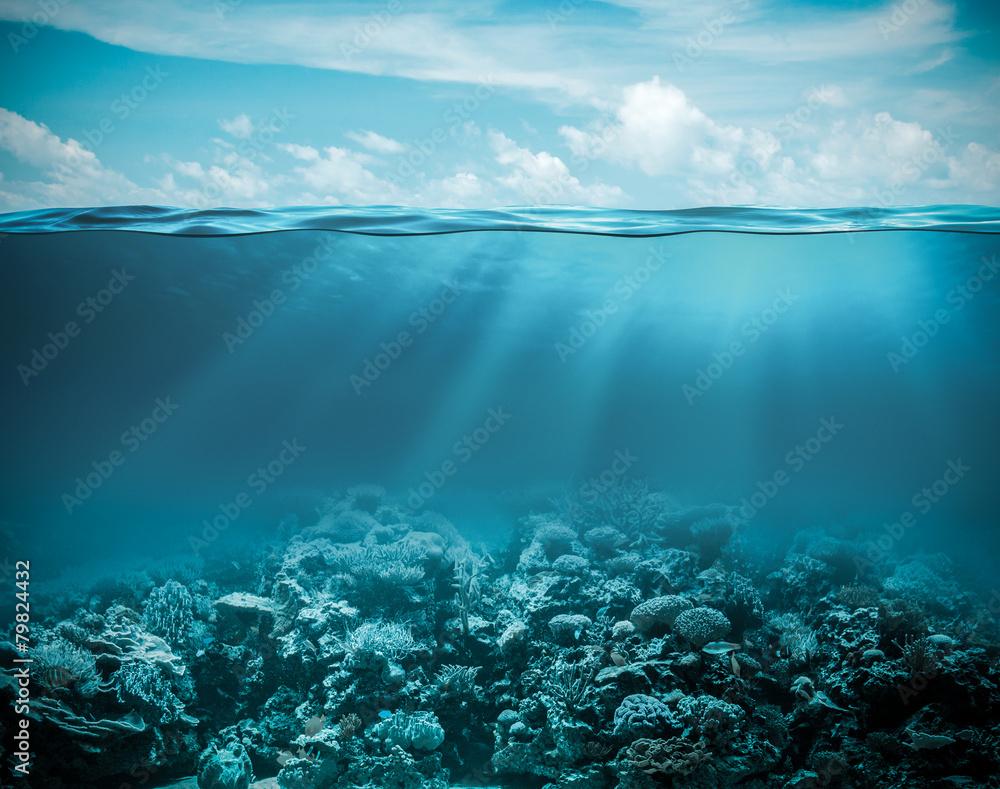 Sea or ocean underwater deep nature background