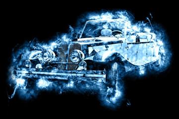 hot vintage car