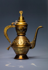 hammered brass teapot India
