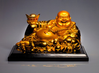 a large gilded seated Buddha, Taiwan