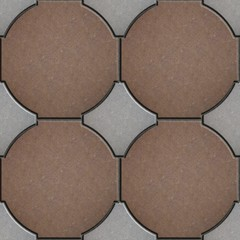 Pavement Brick Brown and Gray. Seamless Texture.