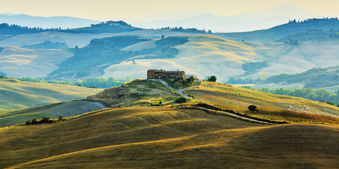 Tuscany landscape, San Quirico d´Orcia, Italy