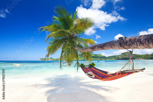 Fotobehang Eilanden Seychellenurlaub