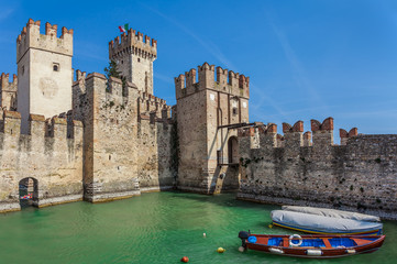 Scaliger medieval castle in Sirmione.
