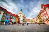Poznan, Posen market square, old town, Poland. Town hall