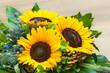 Sonnenblumen, Schnittblumen, Floristik, Blumenstrauß