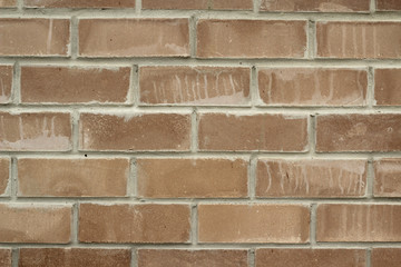 Masonry of red brick abstract background