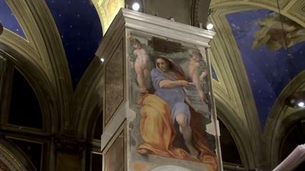 The Prophet Isaiah fresco (Raphael Santi) in b, Sant'Agostino