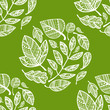 Green pattern with lacy leaves