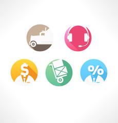 Set icon Transportation