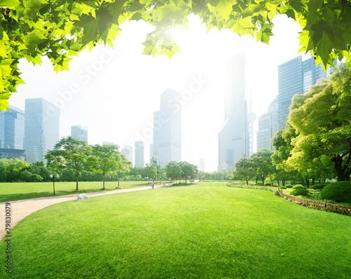 park in  lujiazui financial centre, Shanghai, China - 79830079