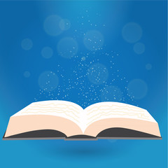 Book, reading, vector