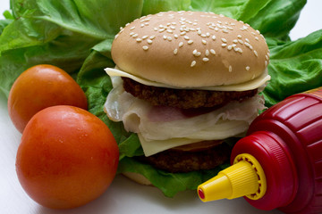delicious and juicy burgers