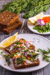 Swedish pickled herring